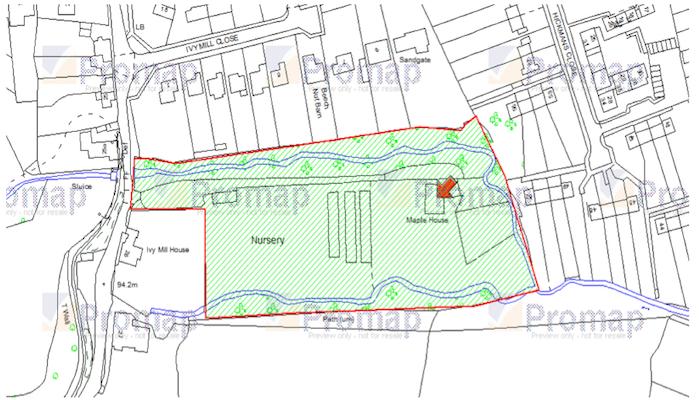 Site For Sale - Maple House, Ivy Mill Lane, Godstone, Surrey, RH9 8NF