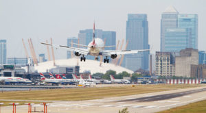 Take-off for expanded London City Airport